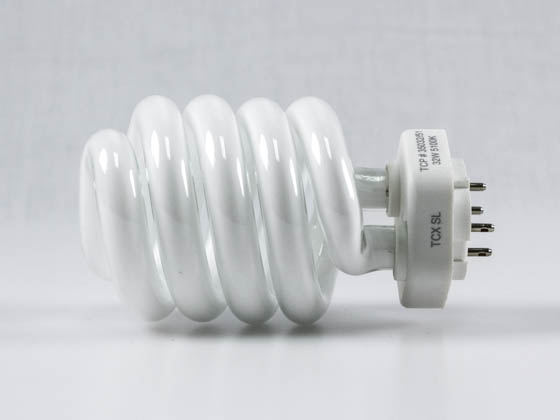 TCP TEC35032-51K 32W Spring Lamp (5100K, 4-Pin Base) 3503251K 32 Watt 4-Pin Bright White Spiral CFL Bulb