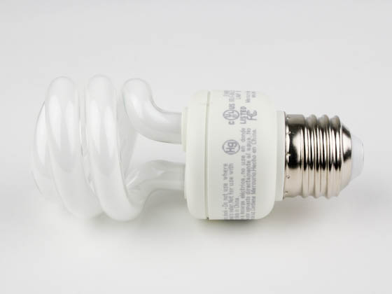TCP TEC801009-50 80100950K 9W Bright White Spiral CFL Bulb, E26 Base