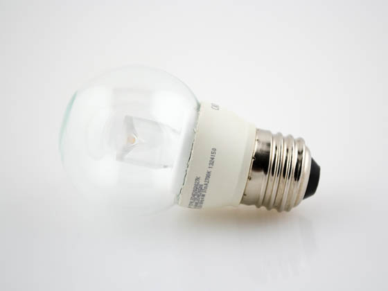 TCP LED4E26G1627K Dimmable 4W 2700K G-16 Globe Clear LED Bulb, E26 Base