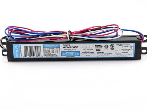 Advance Transformer IOPA1P32HLN Philips Advance Electronic Ballast 120V to 277V for (1) F32T8 High Lumen