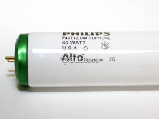 Philips Lighting 423889 (Safety) F40T12/CWSupreme/ALTO Philips Safety Coated 40 Watt, 48 Inch T12 Cool White Fluorescent Bulb