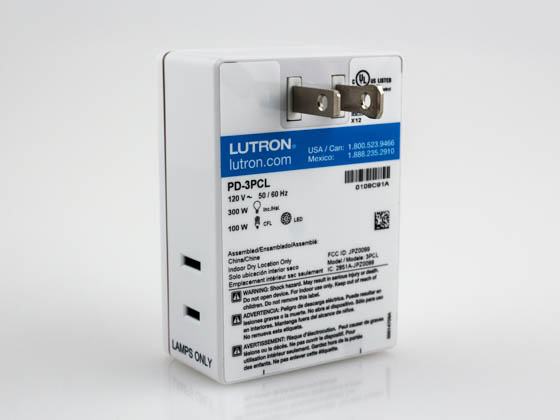 Lutron Electronics PD-3PCL-WH Lutron Caseta Wireless Plug-in Lamp Dimmer