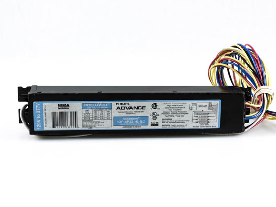 Advance Transformer IOP4P32HLSC35M Philips Advance Electronic Ballast 120V to 277V for (4) F32T8 High Output