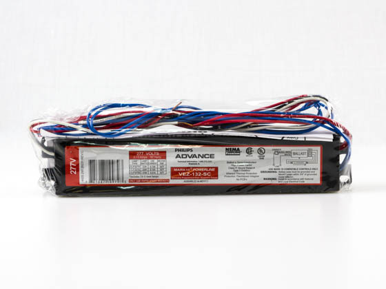 Advance Transformer VEZ132SC VEZ132SC35I Philips Advance Electronic Dimming Ballast 277V for (1) F32T8 on Line Voltage Switches