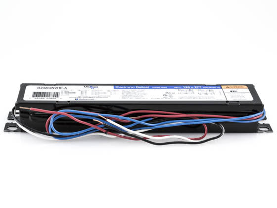 Universal B232IUNVHE-N000I Electronic Instant Start Ballast 120V to 277V for (2) High Efficiency F32T8