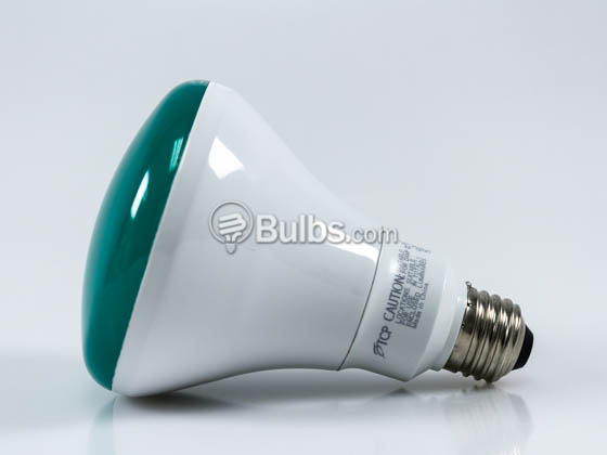 TCP LED12BR30DGR 12 Watt, 120 Volt Dimmable Green LED BR30 Bulb