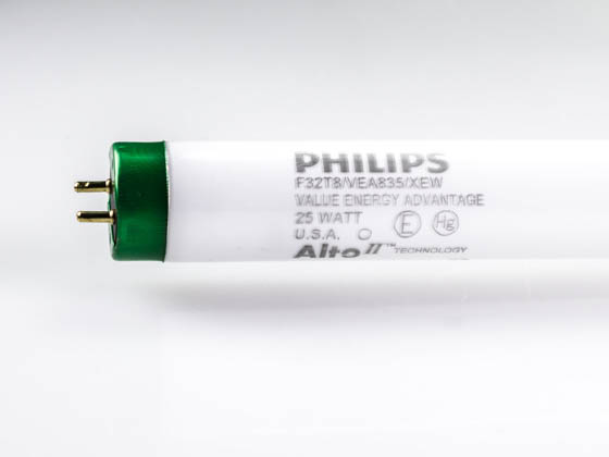 Philips Lighting 424184 F32T8/VEA835/XEW ALTO 25W Philips 25 Watt, 48 Inch Long Life T8 Neutral White Fluorescent Bulb