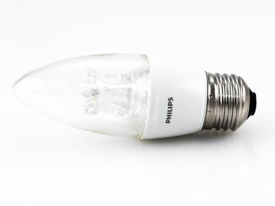Philips Lighting 457192 4.5B12/LED/827-22/E26/DIM 120V Philips Dimmable 2700K to 2200K 4.5W Decorative LED Bulb