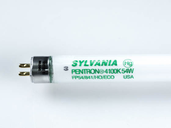 Sylvania 20906 FP54/841/HO/ECO 54W 46in T5 Cool White Fluorescent Tube
