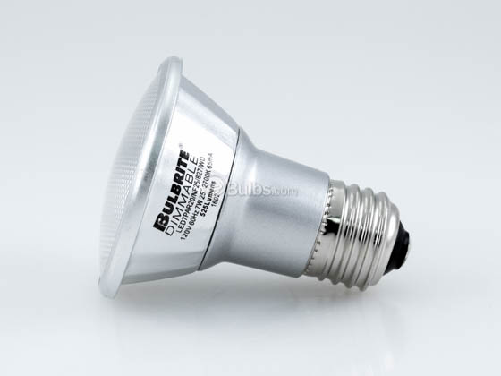 Bulbrite 772710 LED7PAR20/NF25/827/WD Dimmable 7W 2700K 25° PAR20 LED Bulb, Enclosed and Wet Rated
