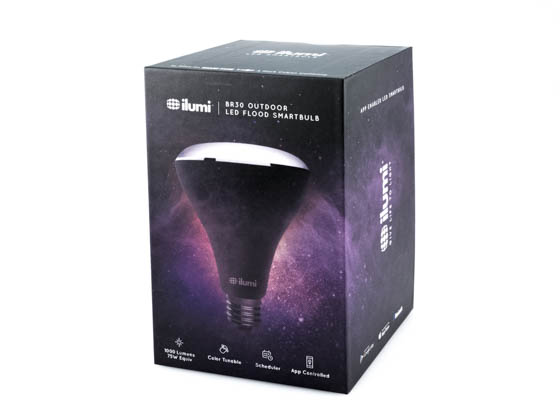 ilumi MLBR302O Multicolor Outdoor BR30 LED Smartbulb