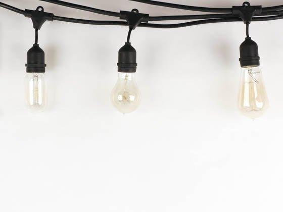 Bulbrite 810005 STRING15/E26 String Lights, Medium Socket, Bulbs Not Included