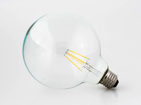 Satco Products, Inc. S9566 6.5G40/CL/LED/E26/27K/120V Satco Dimmable 6.5W 2700K G40 Filament LED Bulb, Rated For Enclosed Fixtures