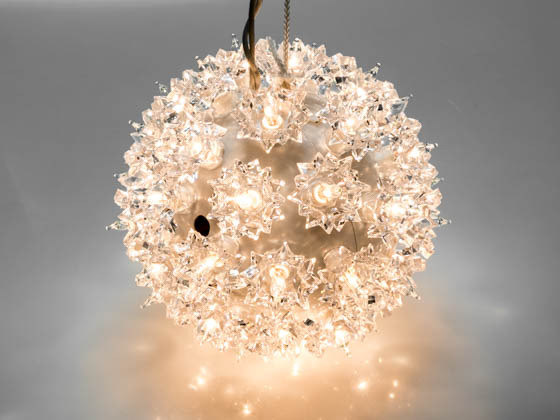 "Sival, Inc. STRWWH6 Sival Starlight Sphere Ornament - 6"" 50 Clear lights"