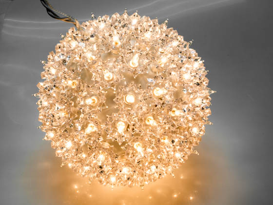 "Sival, Inc. STRWWH75TWK Sival Twinkling Starlight Sphere Ornament - 7.5"" 100 Clear lights"