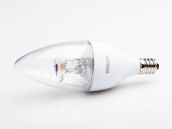 Philips Lighting 461871 4.5B11/LED/827/E12/DIM 120V Philips Dimmable 4.5W 2700K Decorative LED Bulb, E12 Base