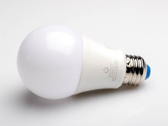 Green Creative 58038 9A19G4/830/277 Non-Dimmable 9 Watt 120 - 277V 3000K A19 LED Bulb, Enclosed Rated