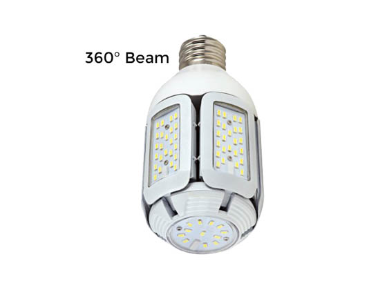 Satco Products, Inc. S9752 60W/LED/HID/MB/5000K/100-277V Satco 60 Watt Non-Dimmable Hi-Pro LED Multi-Beam Retrofit Lamp, 5000K, Ballast Bypass
