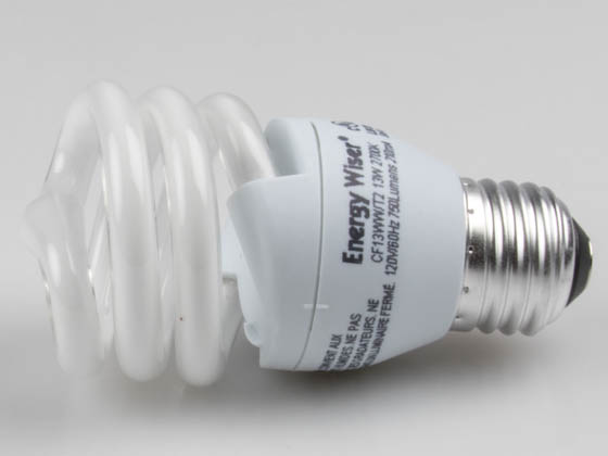 Bulbrite 509015 CF13WW/T2 13W 120V Warm White CFL Bulb, E26 Base