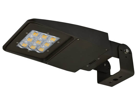 NaturaLED 7628-P10103 LED-FXSAL100/40K/DB/3S-P10103 Dimmable 400 Watt Equivalent, 100 Watt 4000K Slim LED Area Light Fixture With Swivel Bracket