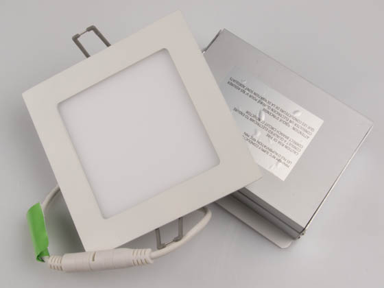"Philips Lighting FD4S07930TE1W Philips Dimmable 11.6 Watt 4"" Square 3000K Flat LED Downlight"