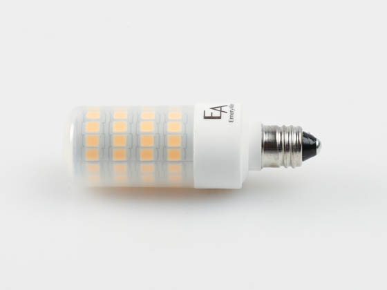 EmeryAllen EA-E11-5.0W-001-309F-D Dimmable 5W 120V T3 3000K LED Bulb, E11 Base, Enclosed Rated