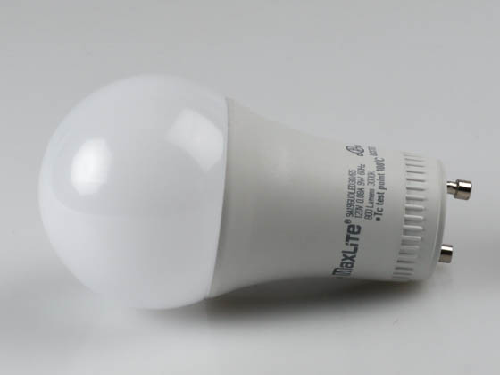 MaxLite 1409408 9A19GUDLED27/G5 Dimmable 9W 2700K A19 LED Bulb, GU24 Base