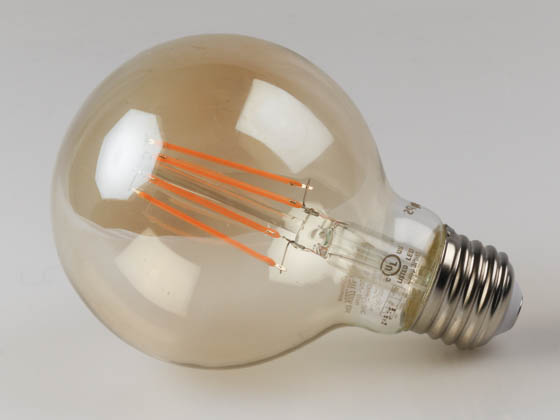 Philips Lighting 475814 4.5G25/AMB/822/E26/CL/DIM CT 1PK Philips Dimmable 4.5W 2200K Vintage G25 Filament LED Bulb, Enclosed Rated
