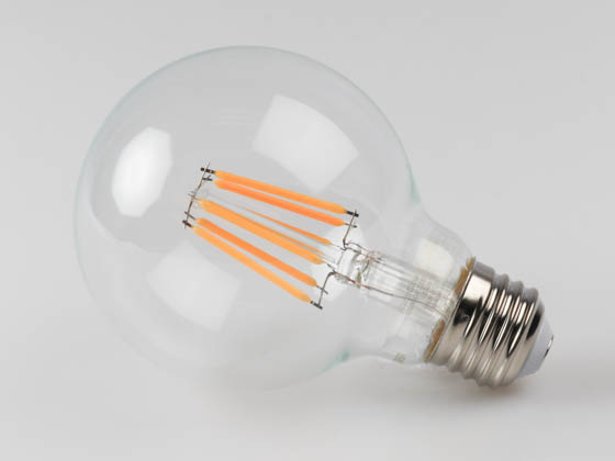 Philips Lighting 470815 6G25/AMB/822-27/E26/CL/GL/WGD CT 1PK Philips Dimmable 6W Warm Glow 2700K-2200K G25 Filament LED Bulb