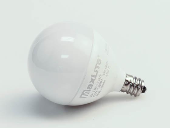 Maxlite Dimmable 5w 2700k G 16 5 Frosted Globe Led Bulb E12 Base 5g16 5dled27 Bulbs Com