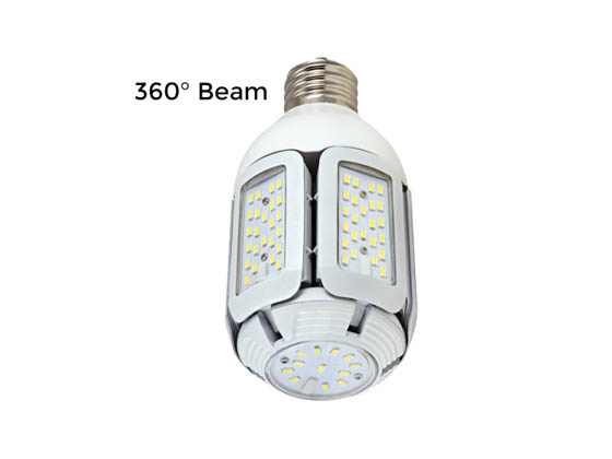 Satco Products, Inc. S29751 40W/LED/HID/MB/5000K/100-277V/EX39 Satco 40 Watt Non-Dimmable Hi-Pro LED Multi-Beam Retrofit Lamp, 5000K, Ballast Bypass