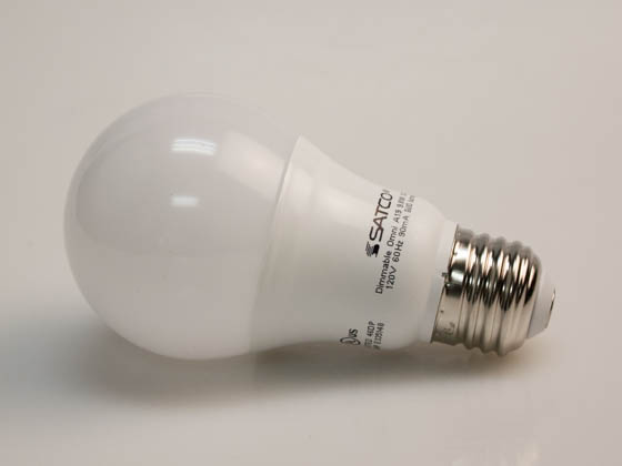 Satco Products, Inc. S29836 9.8A19/OMNI/220/LED/30K Satco Dimmable 9.5W 3000K A19 LED Bulb, Enclosed Rated