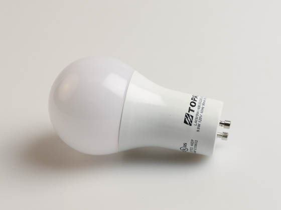 Topaz Lighting 74388 LA19/9W/40K/GU24D Topaz Dimmable 9.8W 4000K A19 LED Bulb, GU24 Base, Enclosed Rated