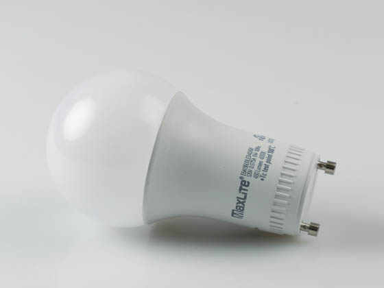 MaxLite 14099407 E6A19GUDLED40/G6 Dimmable 6W 4000K A19 LED Bulb, GU24 Base, Enclosed Rated