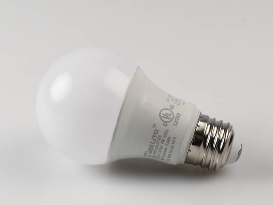 MaxLite 14099390 E6A19DLED27/G6 Maxlite Dimmable 6W 2700K A19 LED Bulb, Enclosed Rated