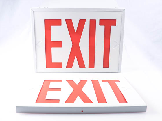 Exitronix VEX-8-U-S-WB-WH NYC-Approved Universal Steel Exit Sign with Battery Back-up