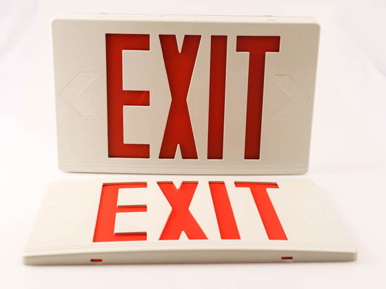 Exitronix VEX-U-BP-WB-WH-R6 LED Exit Sign with Battery Backup with Remote Head Capability