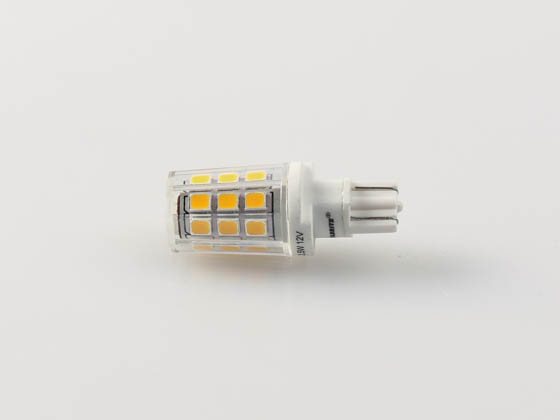 Bulbrite 770583 LED2WEDGE/30K/12 Non-Dimmable 2.5W 12V 3000K T3 Wedge Base LED Bulb