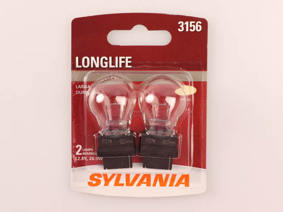 Sylvania 34552 3156LL.BP2 Long Life 3156 Automotive Bulb