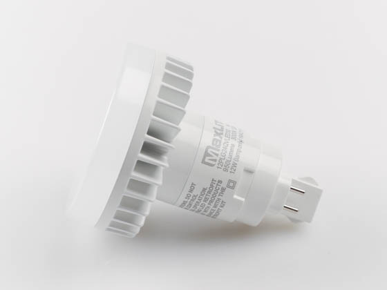 MaxLite 1408989 12PLG24QVLED30 Maxlite Non-Dimmable 12W 4 Pin Vertical 3000K G24q LED Bulb, Uses Existing Ballast