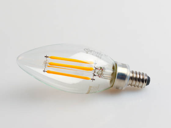 Bulbrite 776856 LED4B11/27K/FIL/3 Dimmable 4.5W 2700K Decorative Filament LED Bulb, Enclosed Rated