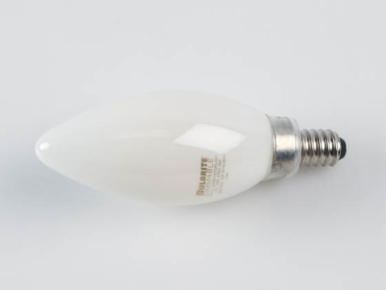Bulbrite 776772 LED3B11/27K/FIL/M/3 Dimmable 3.6W 2700K Decorative Frosted Filament LED Bulb, Enclosed Fixture Rated