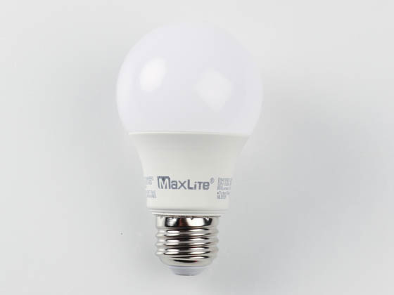 MaxLite 102611 E9A19NDV30RS Maxlite Non-Dimmable 9 Watt 3000K Rough Service A19 LED Bulb, Enclosed Fixture Rated