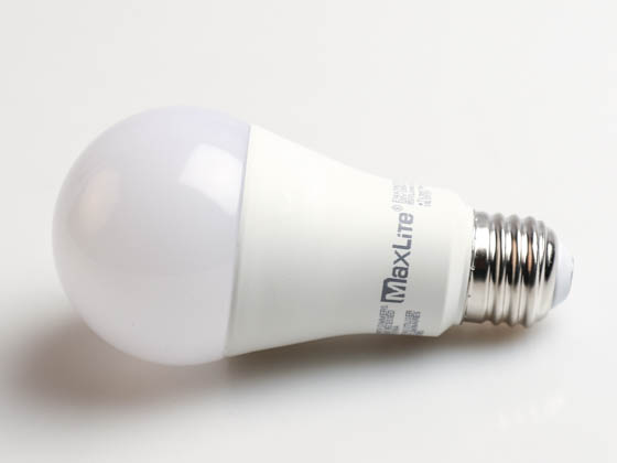MaxLite 102406 E14A19NDV30RS Maxlite Non-Dimmable 14 Watt 3000K Rough Service A19 LED Bulb, Enclosed Rated