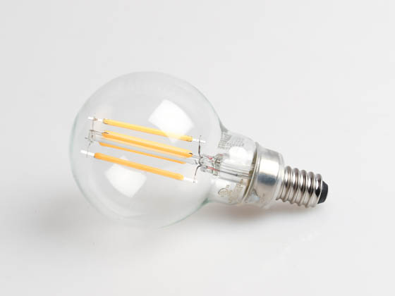 Bulbrite 776873 LED4G16/27K/FIL/3 Dimmable 4W 2700K G-16 Filament LED Bulb, Enclosed Rated