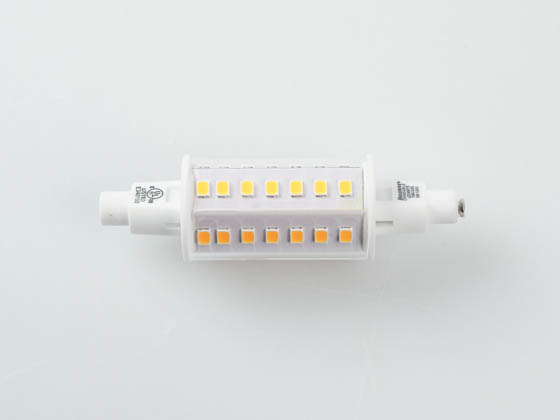 Bulbrite 770637 LED6R7S/30K/S/D Dimmable 6 Watt Double-Ended 3000K J-TYPE Clear LED Bulb, Enclosed Fixture Rated