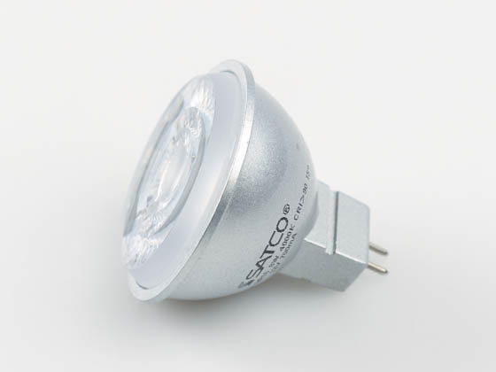 Satco Products, Inc. S8638 8MR16/LED/15'/40K/90CRI/12V Satco Dimmable 8W 4000K 15° MR16 LED Bulb, GU5.3 Base, Enclosed Fixture Rated