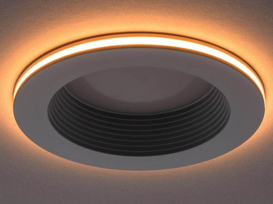 "ETi Solid State Lighting 53805102 DL-4-625-907-SV-D ETI Dimmable 10.4 Watt Color Selectable 4"" LED Recessed Downlight Retrofit with Nightlight Trim"