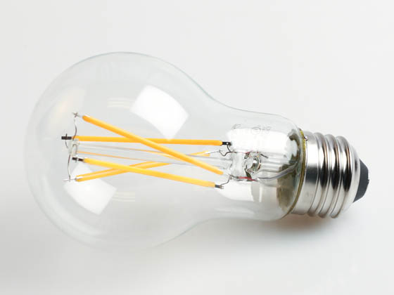TCP FA19D6027EC Dimmable 8W 2700K A19 Filament LED Bulb, Enclosed Rated