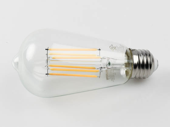 Bulbrite 774139 LED8ST18/30K/FIL/2/JA8 Dimmable 8.5W 3000K 90 CRI ST18 Filament LED Bulb, JA8 Compliant, Outdoor and Enclosed Rated